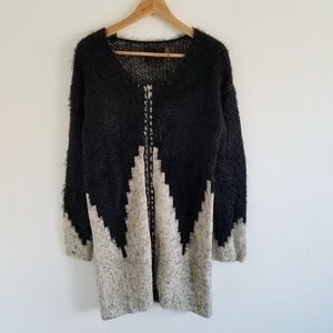 S-Twelve Full Zip Duster Cardigan Sweater M NWT